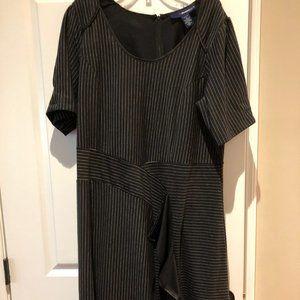 Black pinstripe dress 18W